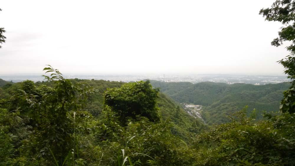 高尾山 途中の展望