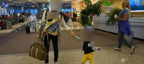 【アメリカ家族旅行 S.L.Cへ】0歳と3歳を連れて 国内線を乗り継いでソルトレークシティーへ